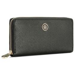 Portefeuille femme grand format TOMMY HILFIGER - Honey Large Za Wallet AW0AW04281  002