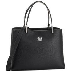Sac à main TOMMY HILFIGER - Th Core Med Satchel AW0AW07685 BLK